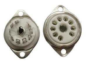 B9A Ceramic Socket 9 ขา Fix Metal