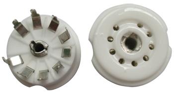 B9A Ceramic Socket 9 Pins PCB รุ่นกลม