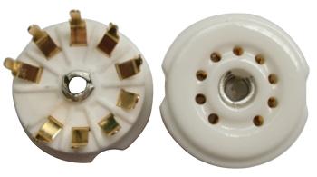 B9A Ceramic Socket 9 Pins PCB Gold รุ่นกลม