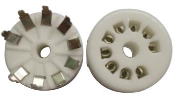B9A Ceramic Socket 9 Pins PCB กลม