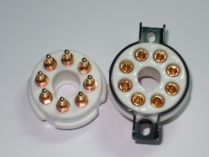 A08 Ceramic Socket 8 Pins ขาทองแดงชุบทอง