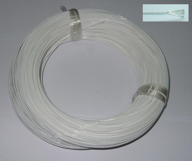 Teflon Stranded 22AWG White