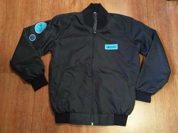 JK047 เสื้อแจ๊คเก็ตผ้าไมโครสีกรม