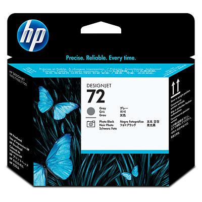 HP 72 Gray and Photo Black Printhead (C9380A)