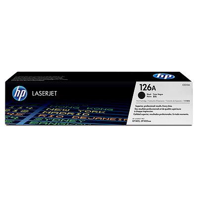 HP 126A Black LaserJet Print Cartridge CE310A