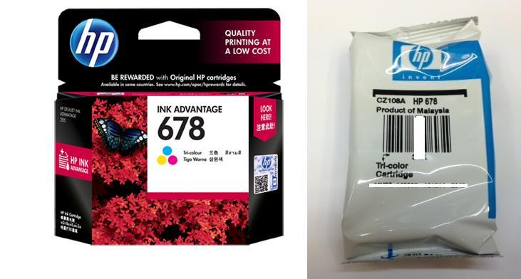 HP 678 Tri-color Ink Advantage Cartridge (CZ108A)