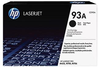 CZ192A HP 93A Black LaserJet Toner Cartridge