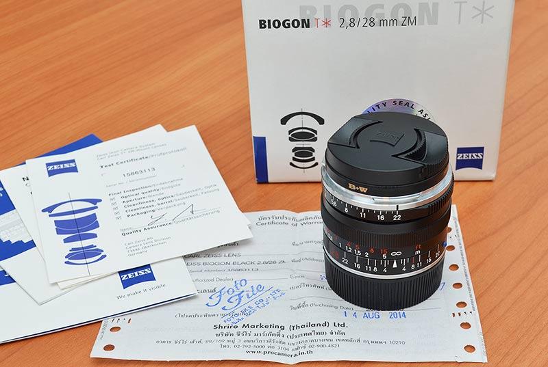 ขายเลนส์ Zeiss 28mm f/2.8 (Biogon) ZM-Mount Black ประกันศูนย์