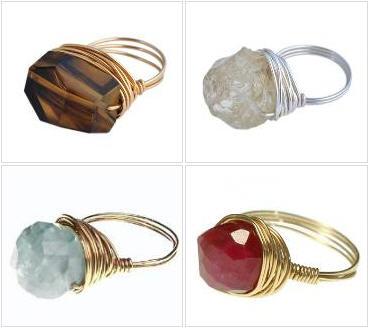 แหวนพลอยแท้/Wire Wrap Ring Custom Jewelry