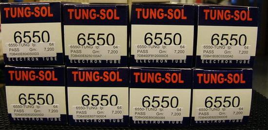 หลอดสูญญากาศ TUNG SOL 6550 Tungsol KT88 Power Tubes เซ็ต8หลอดราคา 15,000บาท