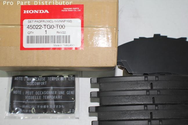 ผ้าดิสเบรคหน้า ฮอนด้า แจ๊ซ HONDA JAZZ 2008(i-vtec) อะไหล่แท้ฮอนด้า(รหัสอะไหล่แท้ 45022-TG0-T00)