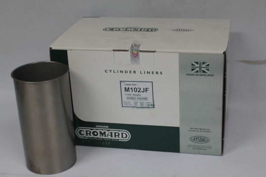 ปลอกสูบ CROMARD สำหรับ รถยนต์ อีซูซุ ISUZU JCM (6BD1) 160HP อะไหล่แท้รถยนต์(รหัสอะไหล่ M102JF)