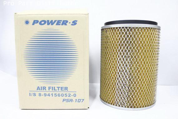 ไส้กรองอากาศ POWER-S  สำหรับ รถยนต์ อีซูซุ ISUZU NPR (8-94156052-0) อะไหล่แท้ รถยนต์(รหัส PSA-107-S)