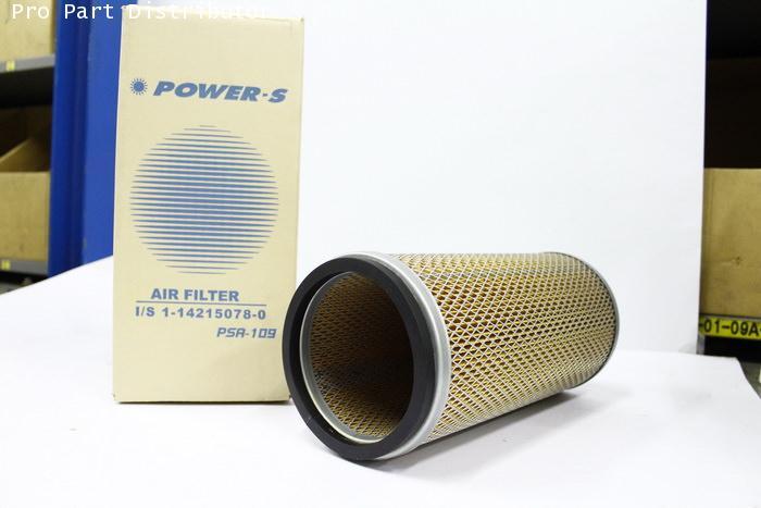 ไส้กรองอากาศ POWER-S สำหรับ รถยนต์ อีซูซุ ISUZU FV-FX (1-14215078-0)อะไหล่แท้ รถยนต์(รหัส PSA-109-S)