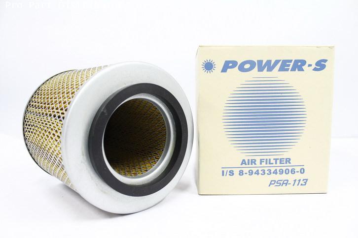 ไส้กรองอากาศมีรู POWER-S สำหรับ รถยนต์ อีซูซุ ISUZU TFR(8943349060)อะไหล่แท้ รถยนต์ (รหัส PSA-113-S)