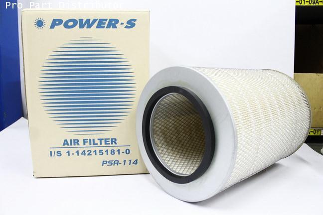 ไส้กรองอากาศ POWER-S สำหรับ รถยนต์ อีซูซุ ISUZU FX270 (1-14215181-0)อะไหล่แท้ รถยนต์(รหัส PSA-114-S)
