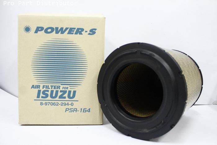 ไส้กรองอากาศ POWER-S สำหรับ รถยนต์ อีซูซุ ISUZU NPR (8-97062294-0) อะไหล่แท้ รถยนต์(รหัส PSA-164-S)