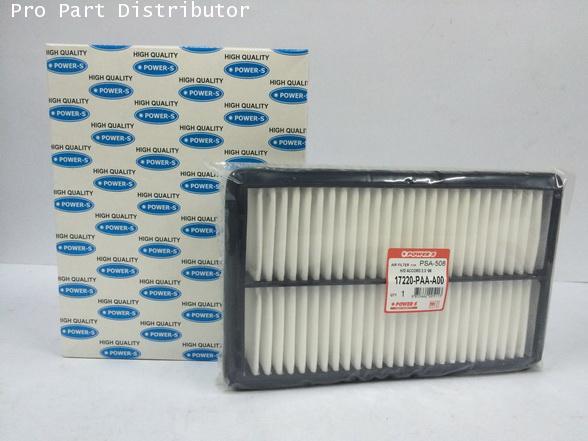 ไส้กรองอากาศ POWER-S สำหรับ รถยนต์ ฮอนด้า HONDA ACCORD (17220PAAY00) อะไหล่แท้ (รหัส PSA-508-S)