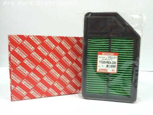 ไส้กรองอากาศ POWER-S สำหรับ รถยนต์ ฮอนด้า HONDA CITY 2003(17220REAZ00) อะไหล่แท้ (รหัส PSA-511-S)