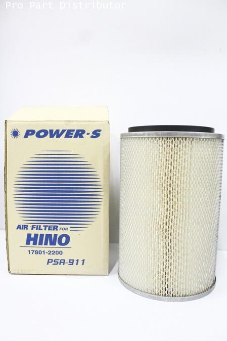 ไส้กรองอากาศ POWER-S สำหรับ รถบรรทุก HINO F18(17801-2200) อะไหล่แท้ รถยนต์ (รหัส PSA-911-S)