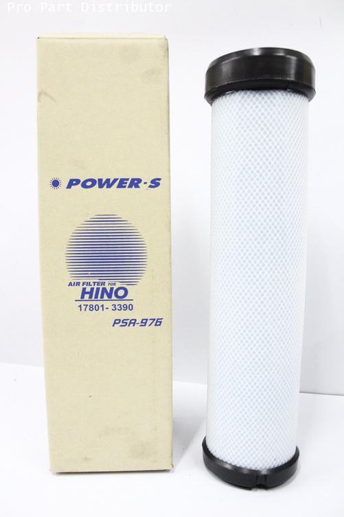 ไส้กรองอากาศ สำหรับ รถบรรทุก ฮีโน่ POWER-S HINO MEGA 220HP ตัวใน (17801-3390) อะไหล่(รหัส PSA-976-S)