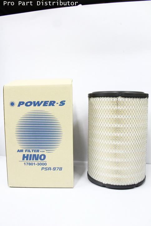 ไส้กรองอากาศ สำหรับ รถบรรทุก ฮีโน่ HINO สิงห์ไฮเทค 6 ล้อ(นอก)(17801-3000) อะไหล่แท้(รหัส PSA-978-S)