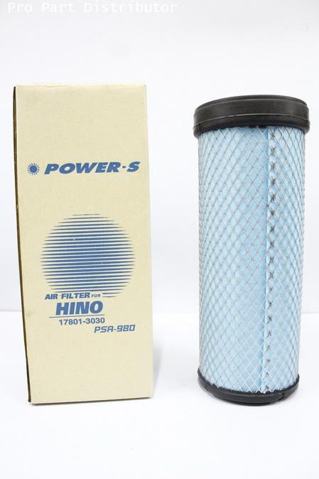ไส้กรองอากาศ สำหรับ รถบรรทุก ฮีโน่ HINO สิงห์ไฮเทค 6 ล้อ(ใน) (17801-3030) อะไหล่แท้(รหัส PSA-980-S)