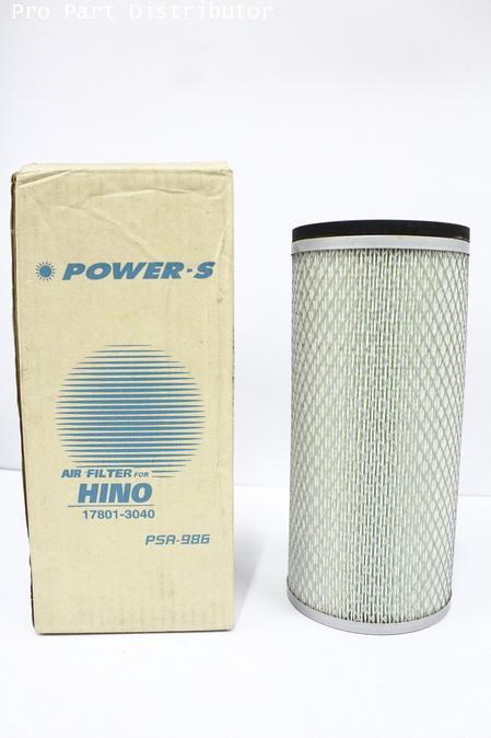 ไส้กรองอากาศ สำหรับ รถบรรทุก ฮีโน่ HINO สิงห์ไฮเทค 1J,FF(ใน) (17801-3040) อะไหล่แท้(รหัส PSA-986-S)