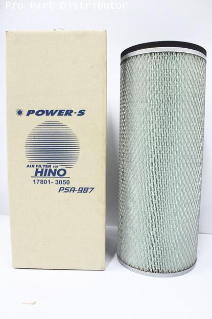ไส้กรองอากาศ POWER-S สำหรับ รถบรรทุกฮีโน่ HINO FM2K,EK200 ลูกใน(17801-3050)อะไหล่แท้(รหัส PSA-987-S)