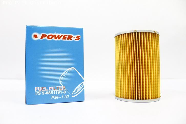 ไส้กรองเชื้อเพลิงโซล่า POWER-S สำหรับ รถยนต์ อีซูซุ ISUZU JCM (9-88511191-1)อะไหล่แท้(รหัสPSF-110-S)