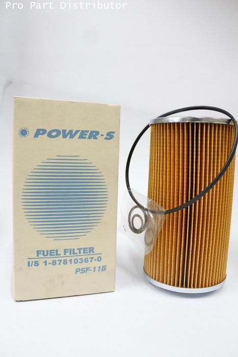 ไส้กรองเชื้อเพลิงโซล่าดักน้ำ สำหรับ รถยนต์ อีซูซุ ISUZU POWER-S FV-FX (1-87810367-1)(รหัส PSF-116-S)