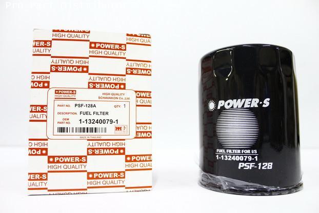ไส้กรองเชื้อเพลิงโซล่าPOWER-Sสำหรับ รถยนต์ อีซูซุ ISUZU FX270(1-13240079-1)อะไหล่แท้(รหัสPSF-128A-S)