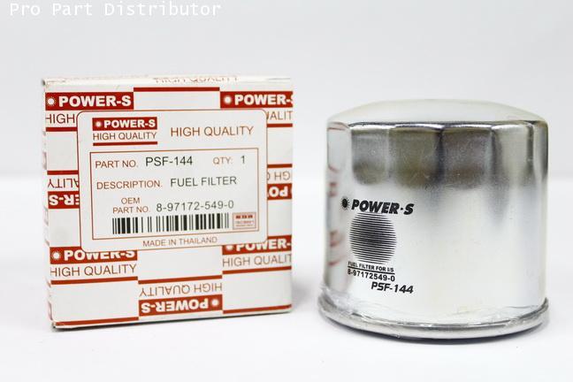 ไส้กรองเชื้อเพลิงโซล่า POWER-S สำหรับ รถยนต์ อีซูซุ ISUZU NPR/NQR 130HP (8971725490)(รหัสPSF-144A-S)