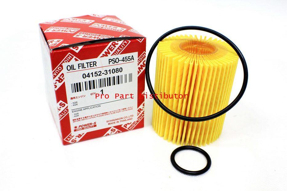ไส้กรองน้ำมันเครื่อง POWER-S PSO-455A สำหรับ โตโยต้า