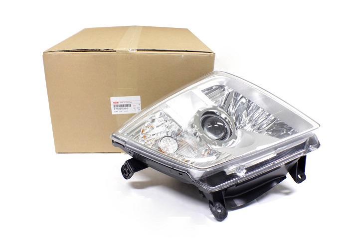 ไฟหน้า ข้างซ้าย แบบโปรเจคเตอร์  รถยนต์ Isuzu D-Max Platinum, Mu-7 2009–2011 อะไหล่แท้ (8-98101320-0)