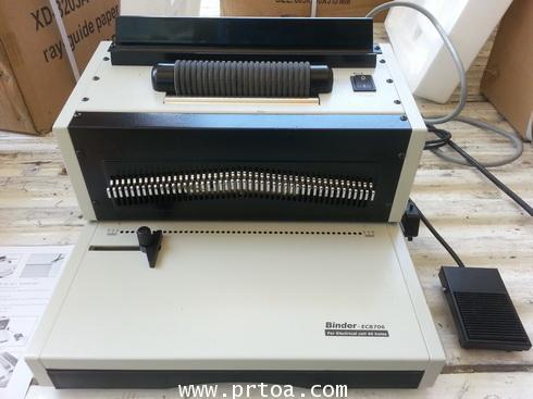เครื่องเข้าเล่มสันเกลียวระบบไฟฟ้าทั้งเจาะไฟฟ้า และ เข้าเล่มไฟฟ้า  ยี่ห้อ PRT รุ่น EC8706