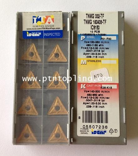 เม็ดมีด TNMG 160408-TF IC9150 ISCAR