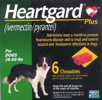 Heartgard PLUS สุนัข 12 - 22 กก. กันพยาธิหนอนหัวใจและถ่ายพยาธิภายใน EXP:04/2022