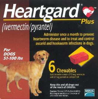 Heartgard PLUS สุนัข 23-45 กก.กันพยาธิหัวใจ+ถ่ายพยาธิ (ยกกล่อง 6 ก้อน) EXP: 06/2021