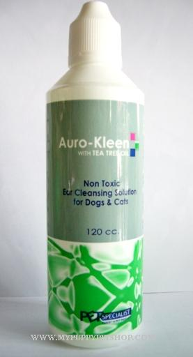 Auro  Kleen - น้ำยาเช็ดหู ทำความสะอาดสิ่งสกปรก กำจัดกลิ่น และแบคทีเรีย (with Tea Tree Oil) 120 ml.