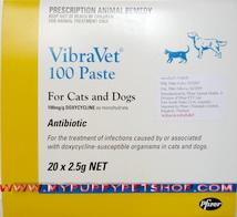 ล็อตใหม่ VibraVet 100 Paste (ไวบร้าเวท) - For cat and dog (1 หลอด = 2.5 g.) Exp: 03/2021 1