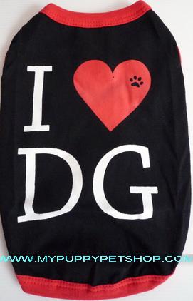 +หมดค่ะ+ เสื้อสุนัข I Love DOG (เบอร์ 9)