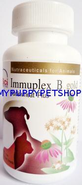 Immuplex B gold เสริมภูมิต้านทาน เพิ่มเม็ดเลือดขาว แก้แพ้ มะเร็ง อักเสบในระดับเซลล์ (60 เม็ด)
