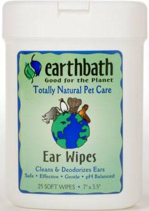 +หมด+ Pet Natural Ear Wipes ผ้าเช็ดทำความสะอาดหู กำจัดเชื้อโรค กลิ่นหอมสดชื่น USA 25 ชิ้น