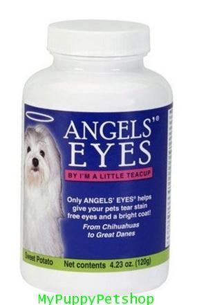 +หมดค่+ Angels Eyes TearStain (120 g) ลดคราบน้ำตาสุนัข เสริมภูมิ สกัดจากธรรมชาติ USA รส Sweet Potato