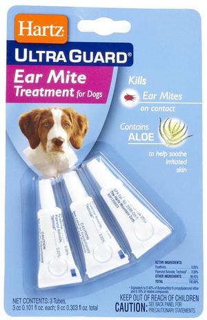 +หมด+ Hartz UltraGuard Ear Mite Treatment  รักษาหูอักเสบ คันหู กำจัดไร เชื้อโรคในหู USA (3 หลอด)
