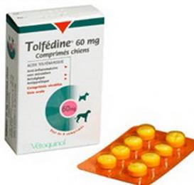Tolfedine 60 mg ยาบรรเทาปวด ลดไข้ สำหรับสุนัขโดยเฉพาะ (8 เม็ด) EXP: 09/2021