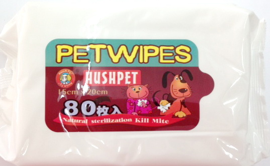 Natural PET WIPES ผ้าเปียกเช็ดทำความสะอาดสัตว์เลี้ยง ไม่มีแอลกอฮอล์ 80 ชิ้น