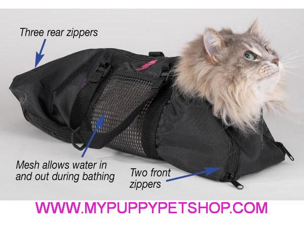 CAT GROOMING BAGS (L) ชุดกรูมมิ่งแมว ป้องกันแมวข่วน ใช้อาบน้ำ ตัดเล็บ เช็ดหู-ตา แปรงฟัน USA (size L)