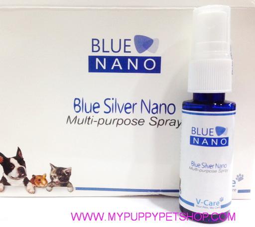 BLUE SLIVER NANO PET SPRAY สเปรย์กำจัดแบคทีเรีย กำจัดกลิ่น ฆ่าเชื้อโรค (สุนัข-แมว)